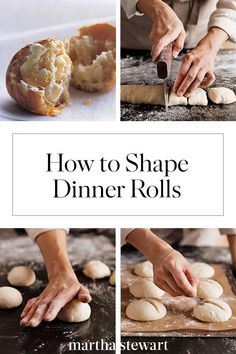 Learn how to shape dough for four essential breads -- baguettes, boules, rolls, and ciabatta -- with our step-by-step photos and instructions. Baking Tips, Bread Baking, My Refrigerator, Challah, Ciabatta, Dinner Rolls, Baguette, Country Living, Bagel