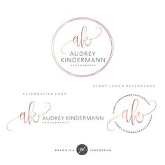 Photography logo Premade Branding Kit Circle logo Blog