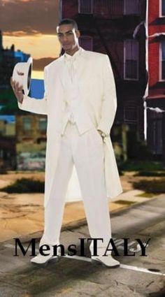 Get Discounts on ID# Superior fabric Stylish Long length Off White/Ivory/Cream Fashion Dress Zoot Wedding Suits For Men For Sale 38 Inch Long length White Wedding Suit, Wedding Suits, Suit Fashion, Fashion Dresses, Fashion Boots, Fashion Clothes, Womens Fashion, Discount Suits, White Dress Shoes