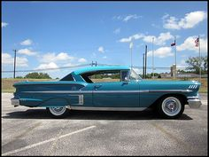 1958 Chevrolet Impala, not usually into impalas but I LOVE this one!!