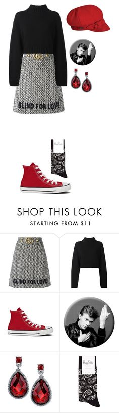 """fashion show"" by annabelroth ❤ liked on Polyvore featuring Gucci, DKNY, Converse, 2028 and Betmar"
