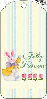 Páscoa Coelhos Fofinhos - Kit Completo com molduras para convites, rótulos para guloseimas, lembrancinhas e imagens!