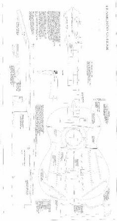 Jose Ramirez Classical Guitar Blueprint Plans