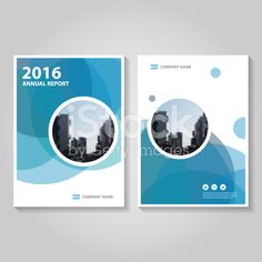 Circle Blue Vector annual report Leaflet Brochure Flyer template design royalty-free stock vector art