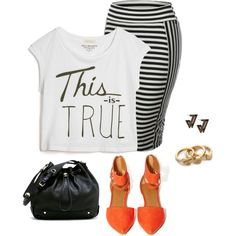 f6bfdbb9d0f1 A fashion look from July 2014 featuring True Religion t-shirts