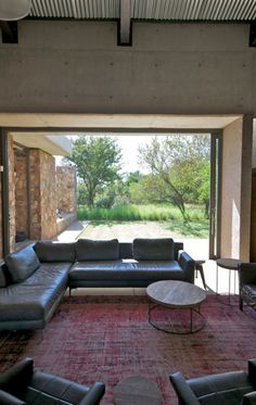 A modern stone farmhouse in South Africa - desire to inspire… House, Natural Building, Modern House, House Exterior, Exterior House Colors, Open Plan Living Room, Farmhouse Plans, Home Design Plans, Modern Contemporary