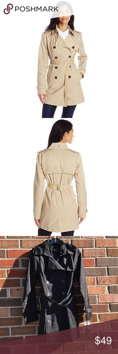 NWT Sam Edelman Women's Adriana trench coat Sz S New with tags! Gorgeous black Sam Edelman double breasted trench coat, women's size S. Comes with an extra button attached to the tags. Very sleek and stylish :) first two photos are stock photos of a tan coat, the one I have is the same exact coat but in black. Sam Edelman Jackets & Coats Trench Coats