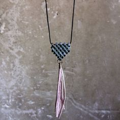 Excited to share the latest addition to my #etsy shop: Long tassel necklace geometric triangle jewelry silver leather tassel jewelry necklace Boho chic pendant Gift for her Modern pendant silver