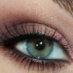 Purple and Rose Gold Eye Makeup