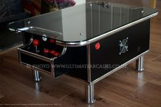 Black Retro Coffee Table, 60 classic arcade games with built in pinball buttons in Video Games & Consoles, Coin-Operated Gaming, Arcade Gaming | eBay