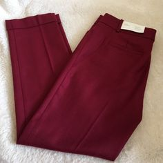 Ann Taylor Loft Pants Ann Taylor Loft Pants in Marisa Modern Fit (sits lower on the waist, slimmer through the hip & thigh, ankle length) has bottom leg cuff, 69% wool 31% polyester. Great color and style! LOFT Pants Ankle & Cropped