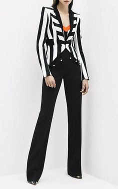 Fitted Cady Black Pant by MUGLER