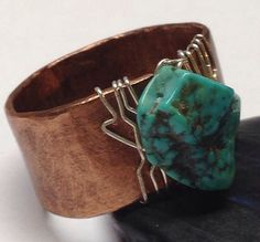 For the Men - Men's Accessories - Large Ring  Men's Ring  Mixed Metal Hammered by BlackHorseDesigns, $40.00