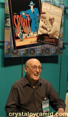 Will Eisner smiles for a photo, San Diego Comic Con, 2004 - Photo by San Diego video producer Patty Mooney of Crystal Pyramid Productions Will Eisner, Business Video, San Diego Comic Con, Sci Fi Movies, Vintage Photographs, Celebrity Pictures, My Photos, Crystals, Comics