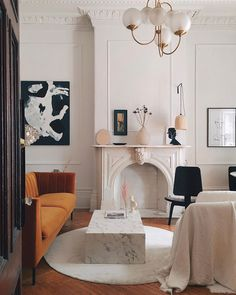 A dreamy Parisian style apartment by Lauren MacLean of Living by Lo Design Living Room, Design Room, Home Design, Home Interior Design, Living Room Decor, Living Spaces, Interior Decorating, Decorating Ideas, Design Ideas