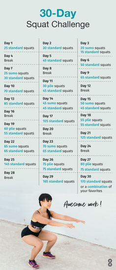 this fun squat challenge! A squat challenge to spice up your workout routine.A squat challenge to spice up your workout routine. Reto Fitness, Fitness Herausforderungen, Physical Fitness, Health Fitness, Health Diet, Fitness Quotes, Health Coach, Fitness Hacks, Fit Quotes