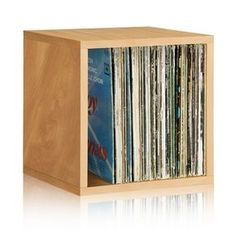 Natural Vinyl Record Storage | Stackable Storage Cubes | Way Basics