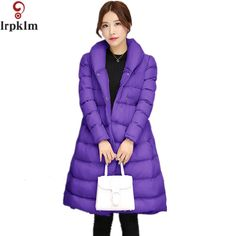 38.25$  Watch now - http://alipom.shopchina.info/1/go.php?t=32746831399 - 2017 New Winter Women New Long Parkas Jacket Lapel Temperament Down And Parkas Large Size Fashion A Type Cotton Jacket LZ08  #magazineonlinewebsite