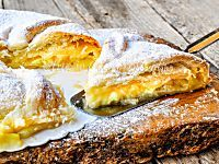 Torta di mele con pasta sfoglia e crema | Arte in Cucina
