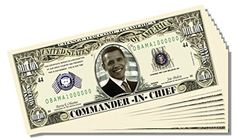 Obama Commander-in-Chief Million Dollar Bill - 10 Count with Bonus Clear Protector and Christopher Columbus Bill >>> This is an Amazon Affiliate link. Click image to review more details.
