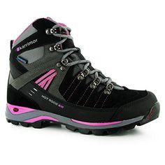 Karrimor Womens Ladies Hot Rock Weathertite Waterproof Trekking Walking Boots CharcoalPink 4 37 -- Learn more by visiting the image link.