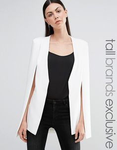 Image 1 of Lavish Alice Tall Longline Cape Blazer