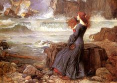 John William Waterhouse Miranda - The Tempest painting is available for sale; this John William Waterhouse Miranda - The Tempest art Painting is at a discount of off. John William Waterhouse, John Everett Millais, Pre Raphaelite Brotherhood, Art Plastique, Painting & Drawing, Painting Wallpaper, Woman Painting, Figure Painting, Painting Art