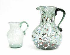 Rare multicoloured 10 inch jug.