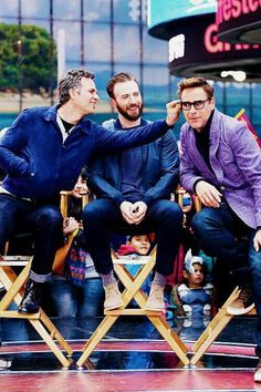 Ruffalo, Evans, and Downey Marvel Dc Comics, Marvel Actors, Marvel Fan, Marvel Characters, The Avengers, Avengers Memes, Marvel Memes, Robert Downey Jr, Animé Romance
