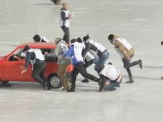 Russia Has Just Invented the Funniest Winter Sport in History - CARS DISTRICT