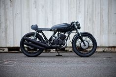 Murdered out cafe racer