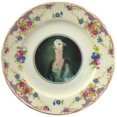 illustri alpaca di porcellana