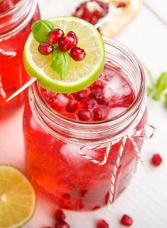 Granatapfel & Limette Vitaminwasser - genial erfrischend!
