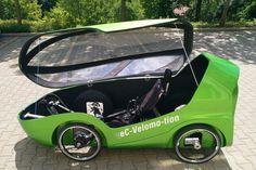EC-Velomo-tion Quad-Cargo-Velomobil | Velomobil-Forum 4 Wheel Bicycle, Trike Bicycle, Recumbent Bicycle, Cargo Bike, Quad, Small Electric Cars, Electric Vehicle, Eco Friendly Cars, Solar Car