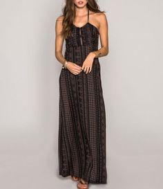 Gb striped knit maxi dress