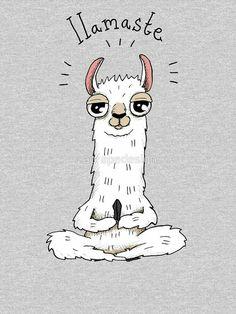 Llamaste Fitted V Neck T Shirt In Gifts Cute - Llamaste Womens Fitted V Neck T Shirt By Agrapedesign April Llamaste Womens Fitted V Neck T Shirt By Agrapedesign Yoga Inspiration Llama Llama Yoga Art Cute Alpacas, Cute Puns, Funny Puns, Llama Drawing, Art Mignon, Llama Alpaca, Cute Wallpapers, Cute Art, Cute Animals