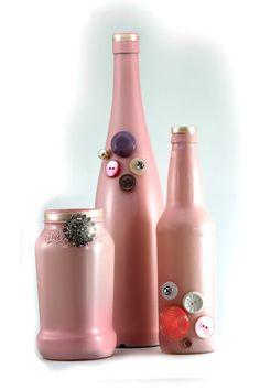 baby pink vases $15.00