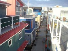 Floating Home Street in Esquimalt , British Columbia