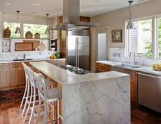 Seattle Eclectic Kitchen Design by NB Design Group Eclectic Kitchen, Modern Kitchen Cabinets, Kitchen Tops, Kitchen Decor, Kitchen Island, Wood Cabinets, Rustic Kitchen, Kitchen Vent, Island Bar
