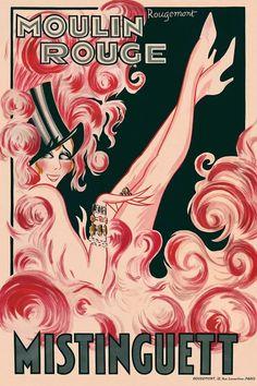 Burlesque Vintage, Cabaret Vintage, Vintage French Posters, Vintage Travel Posters, French Vintage, Vintage Advertisements, Vintage Ads, Vintage Prints, Le Moulin Rouge Paris