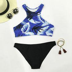 #AdoreWe #CupShe bikini - CupShe Swan Lake Feather Bikini Set - AdoreWe.com