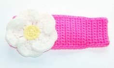 Toddler Girl's Flower Headband Earwarmer  Size: 1 to 3 years by BeyondCrochetToo, $11.00