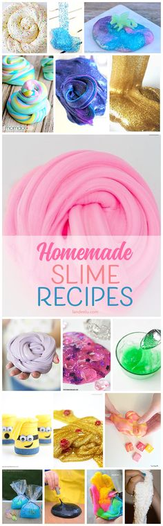 Jump on the homemade slime recipe train and create these in your own kitchen!