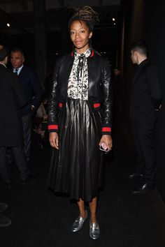 Kara Walker attends the Gucci show during Milan Fashion Week Fall/Winter 2016/17 on February 24 2016 in Milan Italy