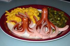 this is a little gross looking but i love octopuss and hotdogs. so...put those hands together
