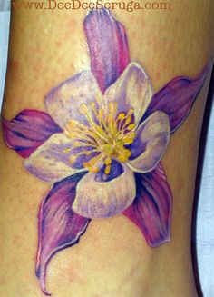 tattoo idea 8531 Santa Monica Blvd West Hollywood, CA 90069 - Call or stop by anytime. UPDATE: Now ANYONE can call our Drug and Drama Helpline Free at Flower Tattoo Sleeve Men, Flower Tattoo Hand, Flower Tattoo Shoulder, Columbine Tattoo, Columbine Flower, Purple Flower Tattoos, Off The Map Tattoo, Purple Lily, Piercing Tattoo