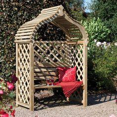 Jaipur Arbour Pressure Treated Wooden Double Seat: Amazon.co.uk: Garden & Outdoors