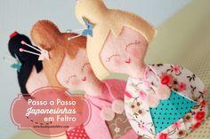 Passo a Passo Japonesinha em Feltro por Fernanda Lacerda - Boutique do Feltro.  Mais sobre a artesã: Boutique do Feltro Site: www.boutiquedofeltro.com