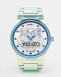 Kenzo Tiger Watch .... Iridescent stainless steel