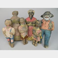6 Aunt Jemima cloth dolls | Rachel Davis Fine Arts